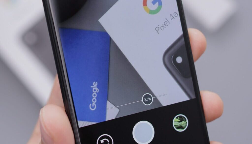 black and white smartphone displaying google search
